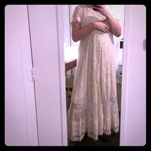 Special occasion dress ivory lace